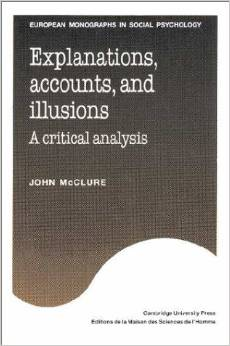 Explanations, Accounts, and Illusions book cover